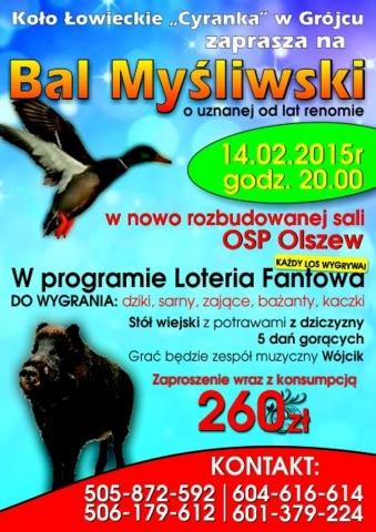Bal Myśliwski Grojeckie24pl